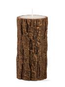 Tag Gilded Tree Bark Pillar Candle