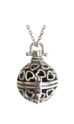 Blossom - Aromatherapy Diffuser Necklace - Silver