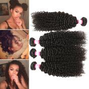 B & P Hair Malaysian Curly Hair 4 Bundles 7A Virgin Human Hair Extensions