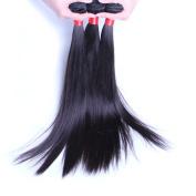 Natural Black 7A Brazilian Virgin Hair Straight 3pcs 300g Human extensions 16 16 16