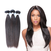 Brazilian Virgin Straight Human Hair Extensions Natural Black 300g Straight Weave Hair20 22 24