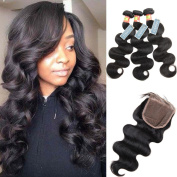MOXIKA Malaysian Body Wave 3 Bundles with closure 100% Free Part Body Wave With Closure Human Hair Extensions Unprocessed Malaysian Virgin Hair With Closure