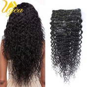Ugea Deep Wave Full Head Hair Extensiones 7pcs Unprocessed Brazilian Remy Clip in Hair Extensions 36cm 120g