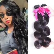 Brazilian Virgin Body Wave Hair Weave 3 Bundles 7A Grade 100% Unprocessed Human Hair Extensions Natural Colour 95-100g/pc 10 10 25cm