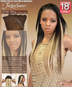Fashion Source 100 % Human Hair Extension 46cm 7pcs (Straight)