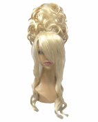 Natural Light Blonde Long Straight Beehive Wig Ladies Wigs Costume Wig Court Wig For Masquerade
