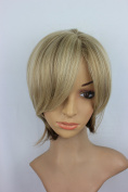 Natural Mixed Colour Short Straight Synthetic Hair Ladies Wigs Womens Wig Natural As Real Hair