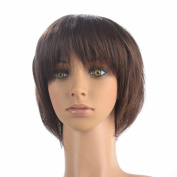 Namecute Women Short BOB Wigs Synthetic Hair Ombre Brown Wig