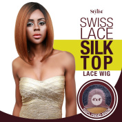 The Stylist Synthetic Lace Front Wig Swiss Lace Silk Top Savvy Bob
