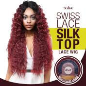 The Stylist Synthetic Lace Front Wig Swiss Lace Silk Top Paradise Wave