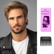 Edge   HIM Collection by Hairuwear, Wig Galaxy Hairloss Booklet, & Wide Tooth Comb (Bundle - 3 Items), Colour Chosen
