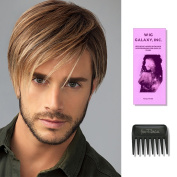 Chiselled | HIM Collection by Hairuwear, Wig Galaxy Hairloss Booklet, & Wide Tooth Comb (Bundle - 3 Items), Colour Chosen
