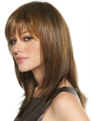 Natural Shoulder Length Mix Colours Straight Synthetic Quality Women's Medium Wig