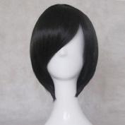 Servamp Tsubaki 35cm Black Short Cosplay Anime Costume Wig + Free Wig Cap