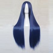 Kakumeiki Valvrave Rukino Saki Dark Blue 80CM Long Cosplay Wig + Free Wig Cap