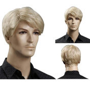 ATOZHair New Arrival Man's Short Blondle Handsome Synthetic Wig