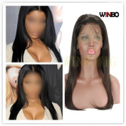 WINBOWIG Full Lace Hand Tied Wig Human Hair Brazilian 5A Natural Colour Hair For Black Women