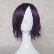 Linali Lee D.Grey-man Dark Purple Cosplay Wig + Free Wig Cap