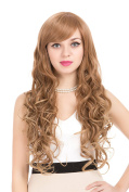 ZUUC Women's Full Head Beautiful Long Curly Wave Wig