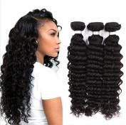 YAMI Brazilian Deep Wave 7a Deep Wave Brazilian Virgin Hair Deep Curly Brazilian Hair Weave 3/4 Bundles Curly Weave Human Hair