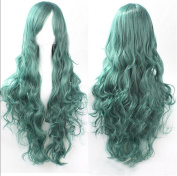 ATOZWIG Long Pastel Green Curly Wavy Party Show Celebrity Wigs Sailor Moon Cosplay Wig