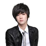 ATOZWIG Heat Resistant Synthetic Hair Wig Male Men Costume Party Natural Black Short Cosplay Anime Peruca Perucas