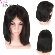Life Diaries 150% Density Short Heavy Italian Yaki Straight Bob Wave Glueless Full Lace Wigs 8A Unprocessed Brazilian Virgin Human Hair Natural Hairline Bleached Knot Free Part