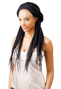 100% Kanekalon Magic Lace Front Wigs Senegal BOX BRAID for Women X-Pression #1 -80cm