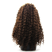 Loose Curly Synthetic Fibre Lace Front Heat Resistant Hair Wigs for Black Women Dark Auburn Colour