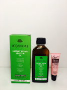 Rolland Arganway Instant Repair Leave-in Oil Super Frizz Control 100ml/3.38oz -Free Starry Sexy Lip Plumping Gloss 10ml