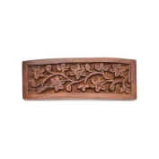 Hand Carved Floral Wooden Barrette, Fair Trade