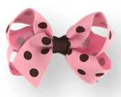 Hair Bow 2.5cm Grosgrain Ribbon 7.6cm Width Polka Dot Print
