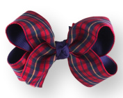Hair Bow 3.8cm Grosgrain Ribbon 11cm Width Red Plaid
