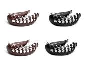 4Pcs Fireboomoon Black and Brown Pony Pouffe Volume Boost Comb Bumpits Bouffant Braid Ponytail Hair Comb Bun Maker