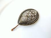 Sara Attali Design Lovely Vintage Leaf Hair Clip style Bronze Bridal Hair Clip