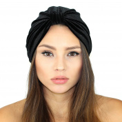 Velvet Turban Headband (Black)