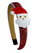 Christmas Holiday Girls Satin and Glitter Arch Headband