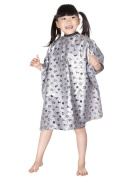 WM BEAUTY Child Salon Hairdressing Hair Cutting Gown Kiddie Cape Silver