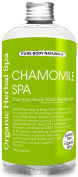 Herbal Chamomile Organic Spa - Shampoo, Body Wash and Bubble Bath - 260ml by Pure Body Naturals