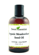 100% Pure Organic Meadowfoam Seed Oil | 120ml | Cold Pressed | For Hair, Skin & Nails | Eyelash Growth | For All Skin & Hair Types | Also Excellent For Mature Skin