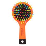 Candy Brush Rainbow Colour S curl Teeth Detangling Hair Brush With Mirror
