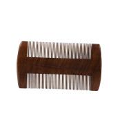Yosoo Green Sandalwood Pocket Beard Comb Anti-Static Comb Beard And Moustache Comb Hair Brush
