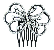 Crystal Rhinestone Bow Hair Comb Clip Wedding Hair Accessories For Short Hair And Long Hair