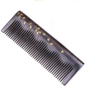 Handmade Natural African Chacate Preto Wood Medium Tooth Massage Hair Comb, Anti Static Pocket Wooden Comb 5.3""