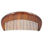 Handmade Premium Quality Natural African Mopane Wood medium tooth Massage Hair Comb, Seamless Pocket Wooden Comb 4.5""