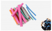 10pcs Blue Pink Hair Curling Soft Sponge Roller Tools