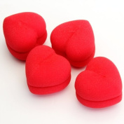 Gleader 4pcs Soft Sponge DIY Hair Care Curler Roller Balls Red Heart-Shaped by Gleader