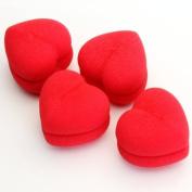 Gleader 4pcs Soft Sponge DIY Hair Care Curler Roller Balls Red Heart-Shaped by Gleader