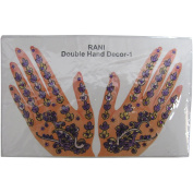 Indian Fashion Art Bollywood Hand Tattoo Sparkling Rhinestone Stick-On Reuseable Bindi