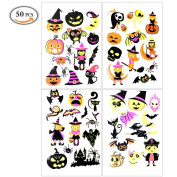 OR Pure Temporary Tattoo Festival Party Decoration Art Tattoo Luminous in night 4 Sheet